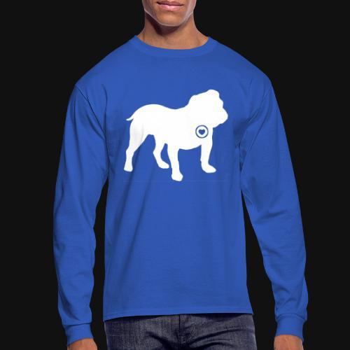 Bulldog love - Men's Long Sleeve T-Shirt