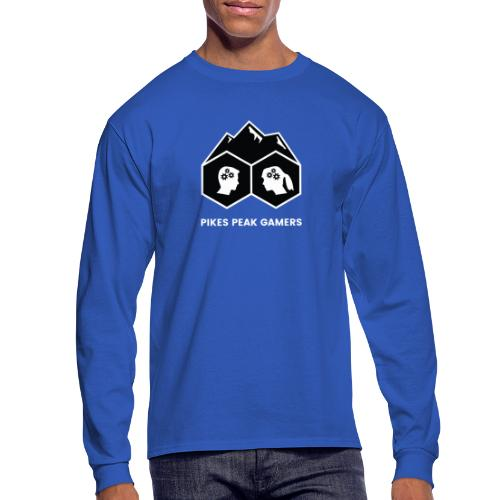 Pikes Peak Gamers Logo (Solid Black) - Men's Long Sleeve T-Shirt