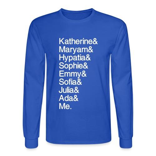 Women in Math & Me (at bottom) - Men's Long Sleeve T-Shirt
