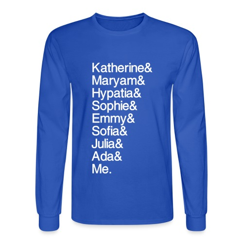 Women in Math & Me (at bottom) - Men's Long Sleeve T-Shirt
