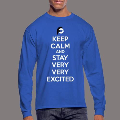 STAY EXCITED Spreadshirt - Men's Long Sleeve T-Shirt