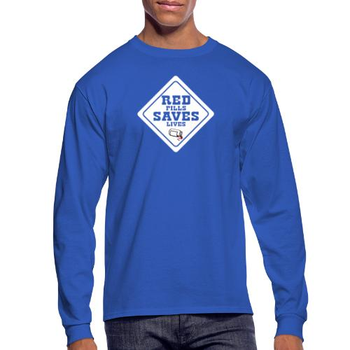 Red Pills Saves Lives White - Men's Long Sleeve T-Shirt