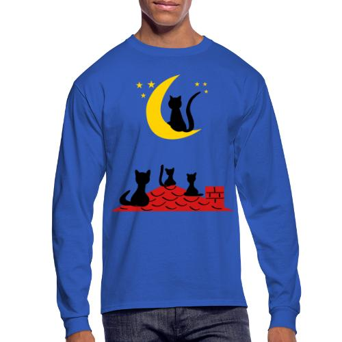Cats on the roof - Men's Long Sleeve T-Shirt