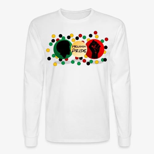 Melanin Pride Logo with dots - Men's Long Sleeve T-Shirt