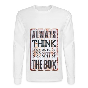 Always think outside the box - Men's Long Sleeve T-Shirt