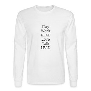 Play_Work_Read - Men's Long Sleeve T-Shirt