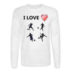 Geek T-shirt I love soccer - Men's Long Sleeve T-Shirt