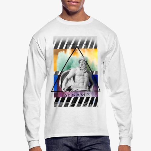 POSEIDON CREATION white - Men's Long Sleeve T-Shirt