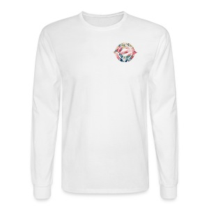 Logo Floral Heart - Men's Long Sleeve T-Shirt