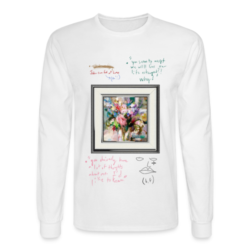 bonsoir, fucker (confessions) - Men's Long Sleeve T-Shirt