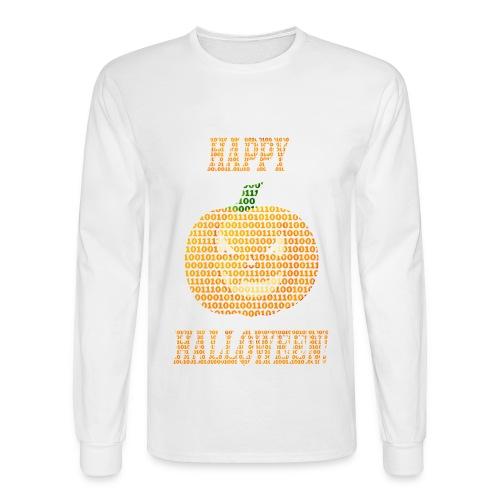 Limited Edition!! Happy Halloween Binary Pumpkin - Men's Long Sleeve T-Shirt