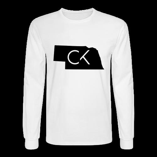 State of Nebraska Conor Keating Logo (White) - Men's Long Sleeve T-Shirt
