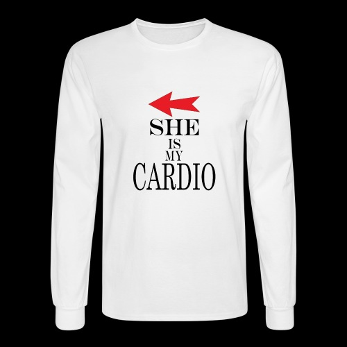 She is my Cardio - Men's Long Sleeve T-Shirt