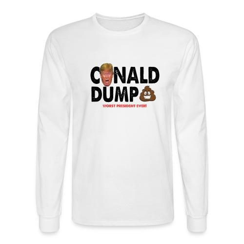 Conald Dump Worst President Ever - Men's Long Sleeve T-Shirt