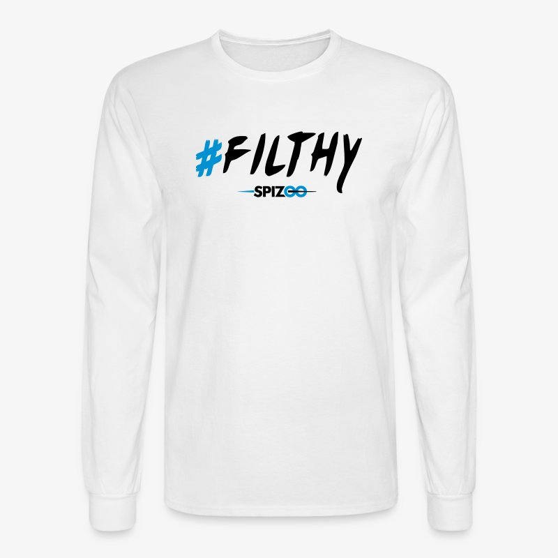 #Filthy white - Spizoo Hashtags - Men's Long Sleeve T-Shirt