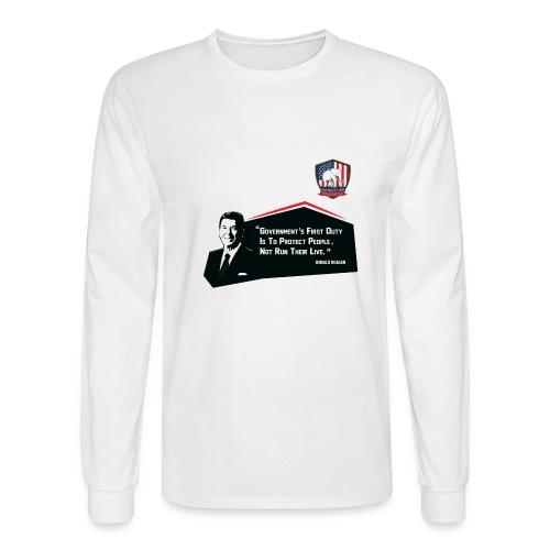 College Republicans UT - Ronald Reagan - Men's Long Sleeve T-Shirt