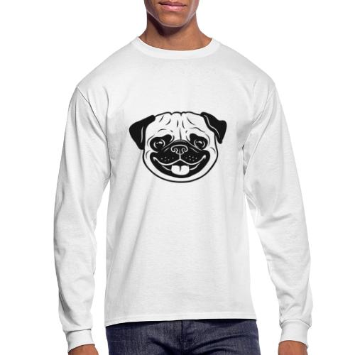 Cute pug - Men's Long Sleeve T-Shirt