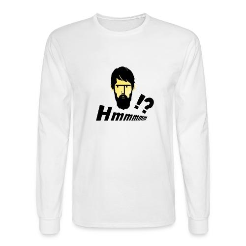 hmm!? emotion serious bearded face - Men's Long Sleeve T-Shirt