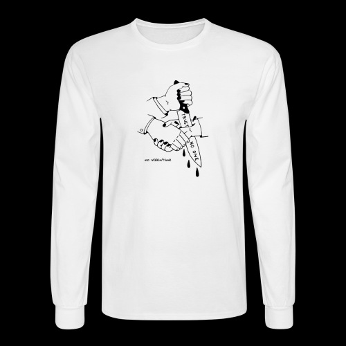 no trust no valentiine - Men's Long Sleeve T-Shirt