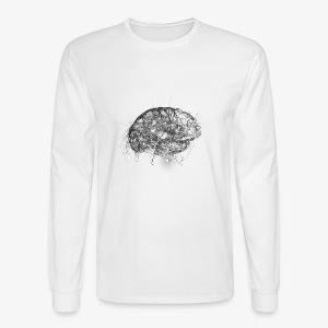 Brain Illustration - Men's Long Sleeve T-Shirt