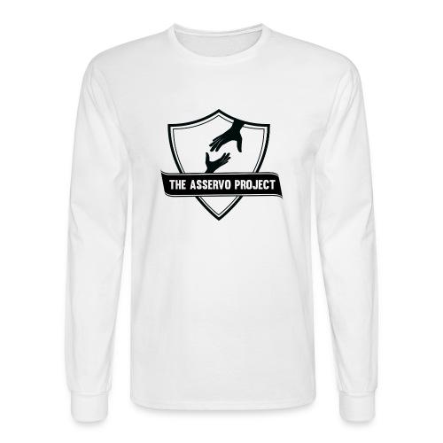 The Asservo Project Black Logo - Men's Long Sleeve T-Shirt