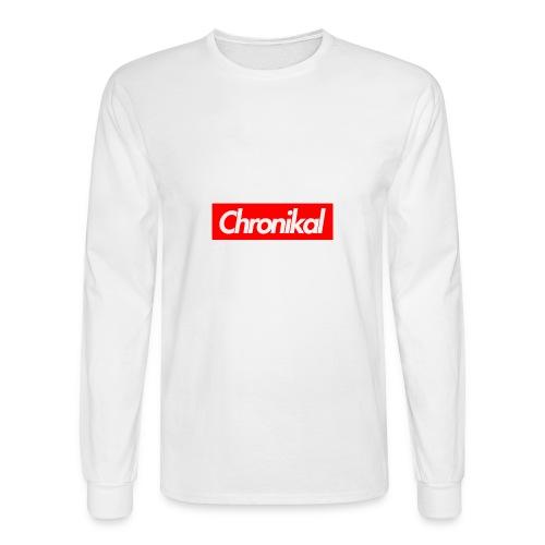 Chronikal Box Logo - Men's Long Sleeve T-Shirt