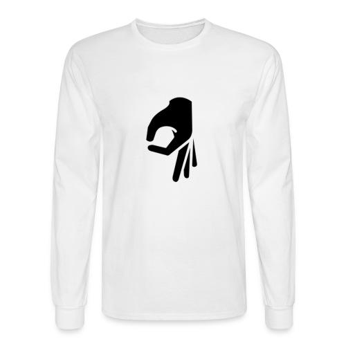 Upside Down Ok Sign - Men's Long Sleeve T-Shirt