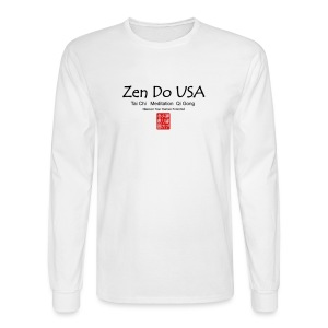Zen Do USA logo and cell phone clothing busshist - Men's Long Sleeve T-Shirt