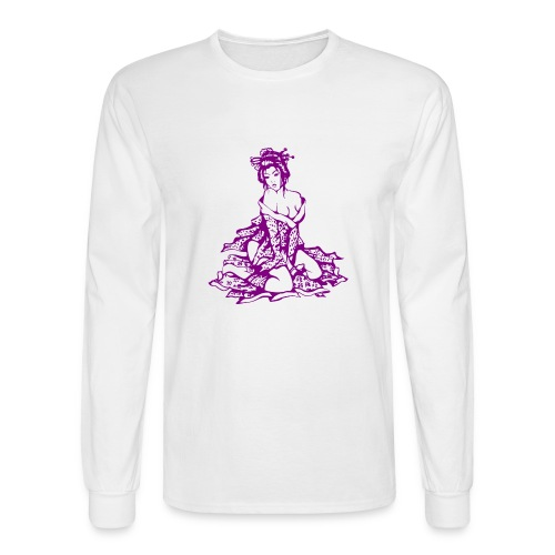 geisha purple - Men's Long Sleeve T-Shirt