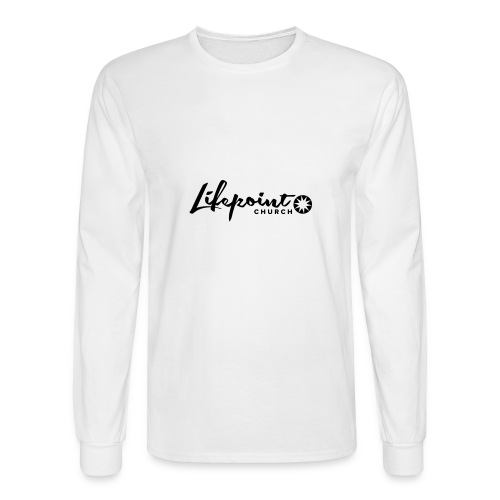 Logo Horizontal Black - Men's Long Sleeve T-Shirt