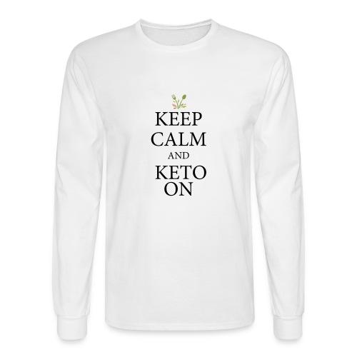 Keto keep calm - Men's Long Sleeve T-Shirt