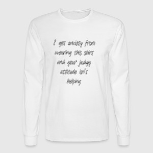 Anxiety W/O quote - Men's Long Sleeve T-Shirt