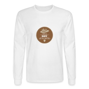 Not be Silenced - Men's Long Sleeve T-Shirt