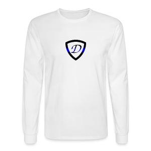 Dietz Foundation Thin Blue Line Badge - Men's Long Sleeve T-Shirt