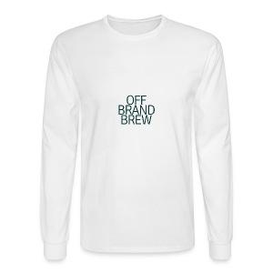 OFF BRAND BREW BLACK STACK LOGO - Men's Long Sleeve T-Shirt