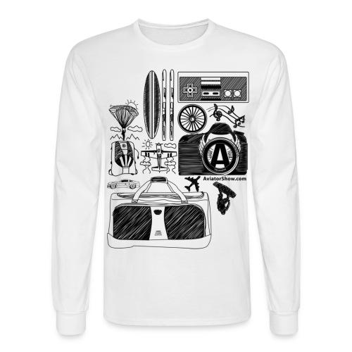 Aviator s World black - Men's Long Sleeve T-Shirt
