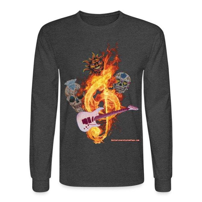 GuitarFireClef by GuitarLoversCustomTees png