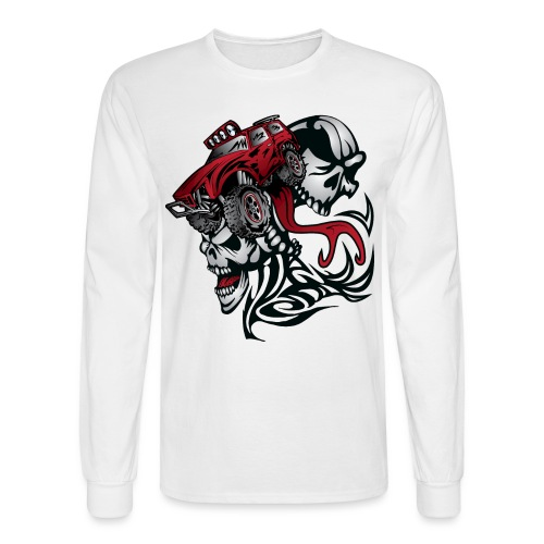 Skull Roller Truck - Men's Long Sleeve T-Shirt