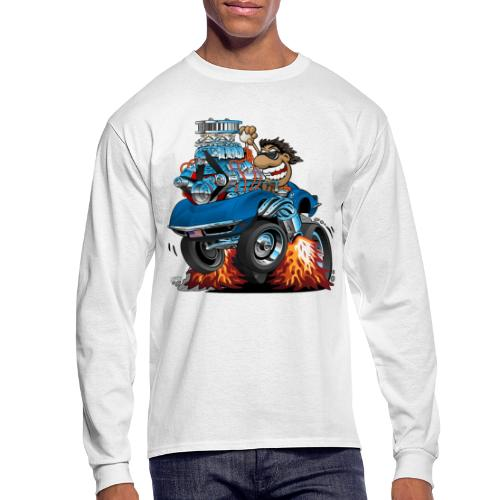 Classic '69 American Sports Car Cartoon - Men's Long Sleeve T-Shirt