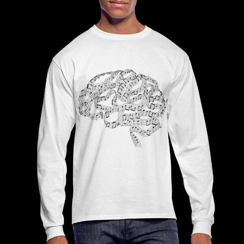 Sound of Mind   Audiophile's Brain - Men's Long Sleeve T-Shirt