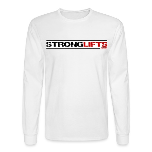 strongliftswhite - Men's Long Sleeve T-Shirt