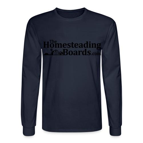 THB Black Logo BW 01 png - Men's Long Sleeve T-Shirt