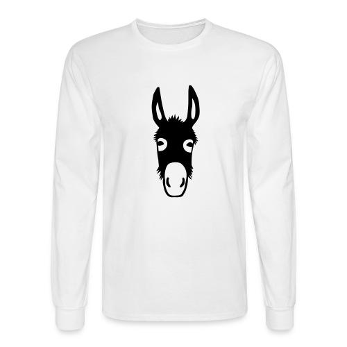 donkey mule horse muli pony - Men's Long Sleeve T-Shirt