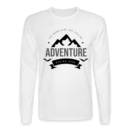 The mountains are calling T-shirt - Men's Long Sleeve T-Shirt