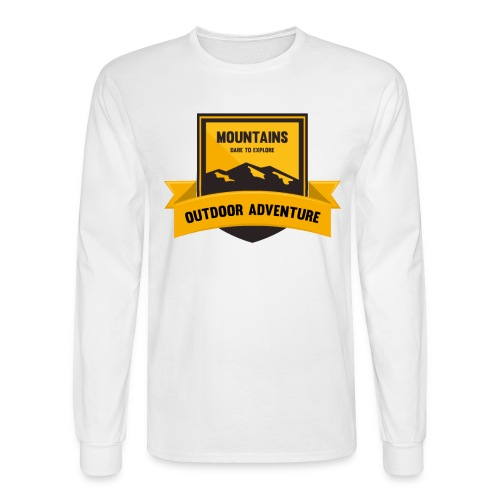 Mountains Dare to explore T-shirt - Men's Long Sleeve T-Shirt