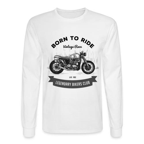 Born to ride Vintage Race T-shirt - Men's Long Sleeve T-Shirt