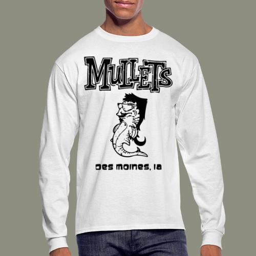 mulletmain black - Men's Long Sleeve T-Shirt