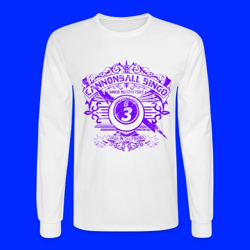 Vintage Cannonball Bingo Crest Purple - Men's Long Sleeve T-Shirt