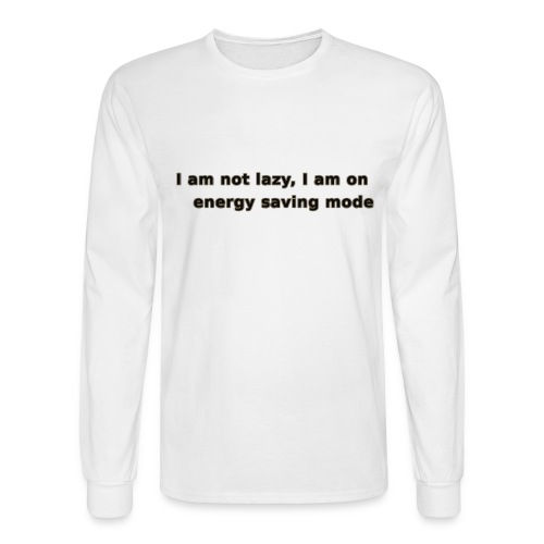 Funny Lazy T-shirt/Longsleeve - Men's Long Sleeve T-Shirt