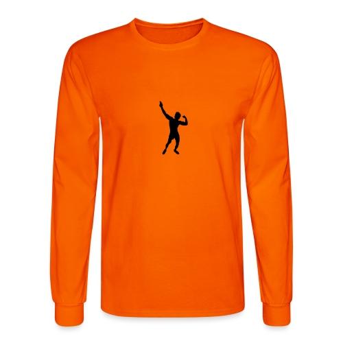 Zyzz Silhouette vector - Men's Long Sleeve T-Shirt